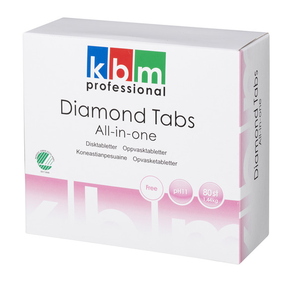 KBM Diamond maskinoppvasktabletter All-in-one