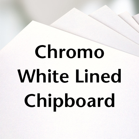Chromo White Lined Chipboard